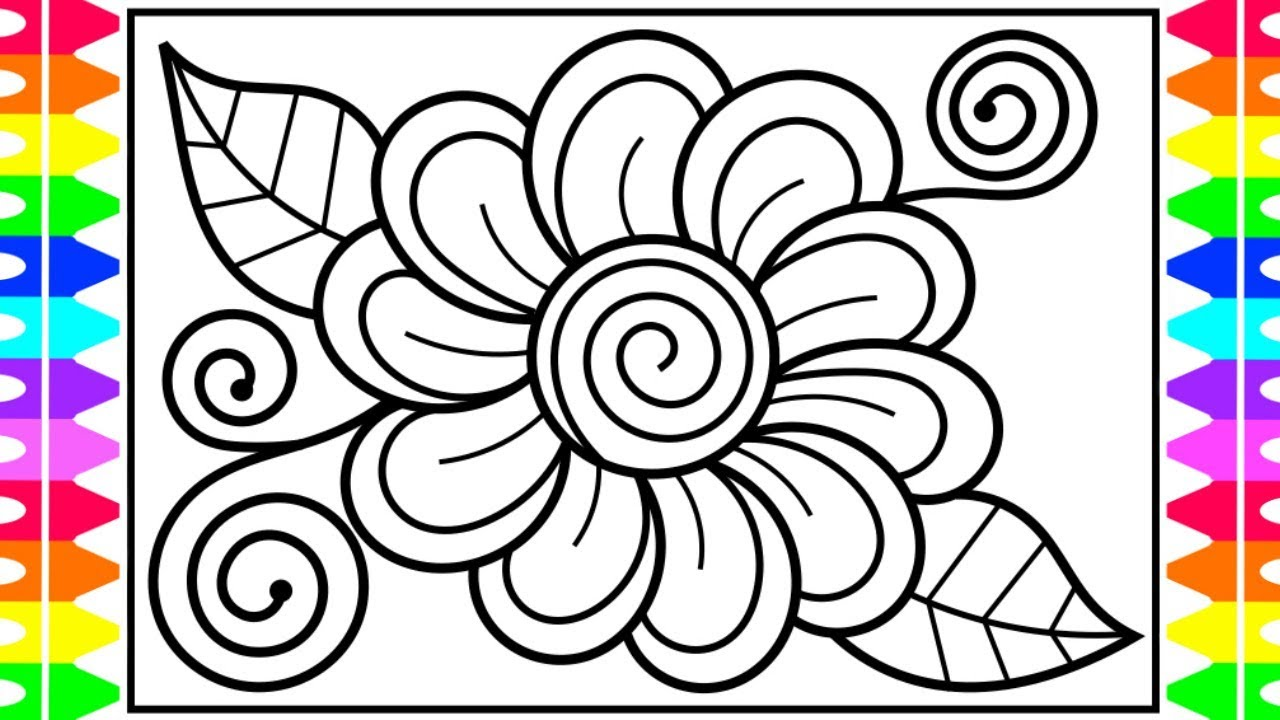 Flower – Coloring 1