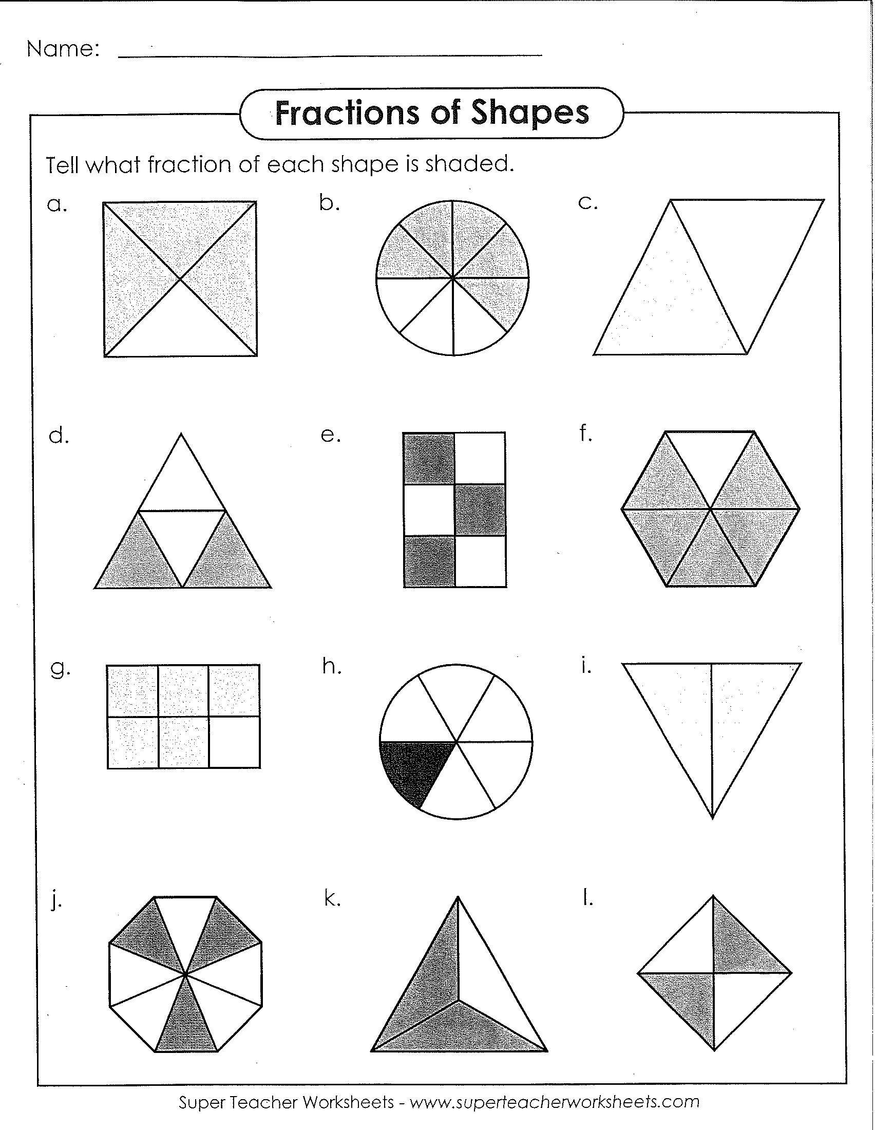 Fractions of Shapes